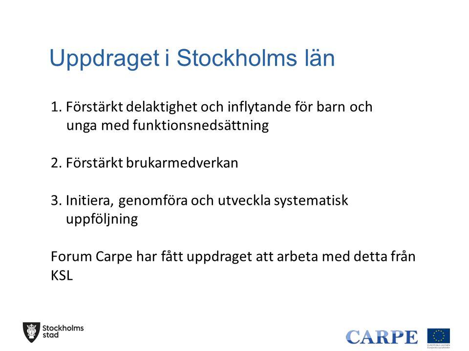Uppdraget i Stockholms län