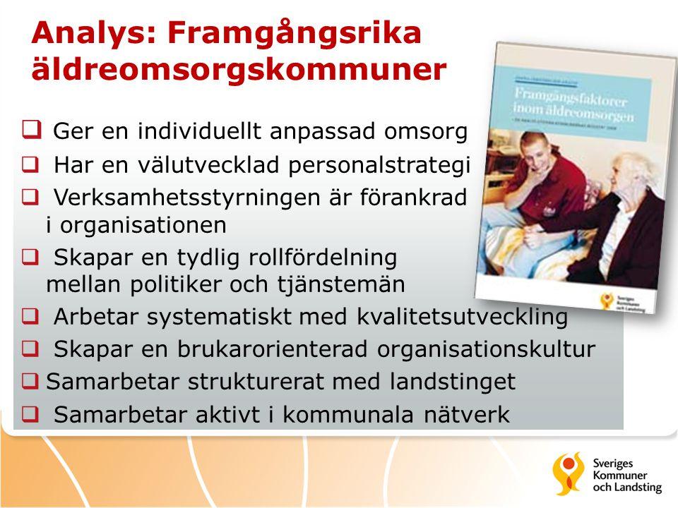 Analys: Framgångsrika äldreomsorgskommuner
