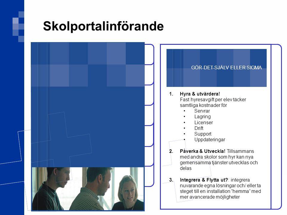 Skolportalinförande Projektet Tekniken GÖR-DET-SJÄLV ELLER SIGMA