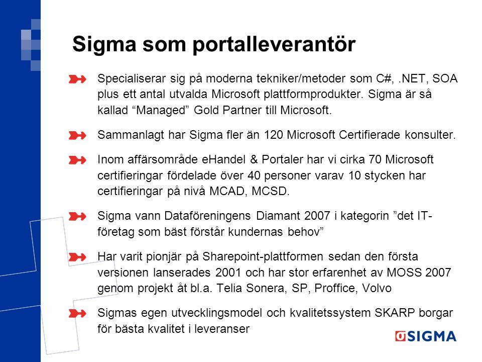 Sigma som portalleverantör