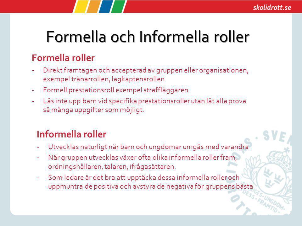Formella och Informella roller