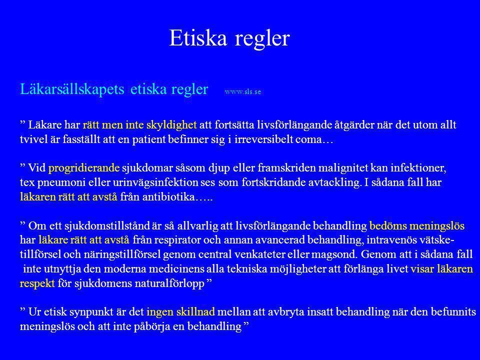 Etiska regler Läkarsällskapets etiska regler www.sls.se