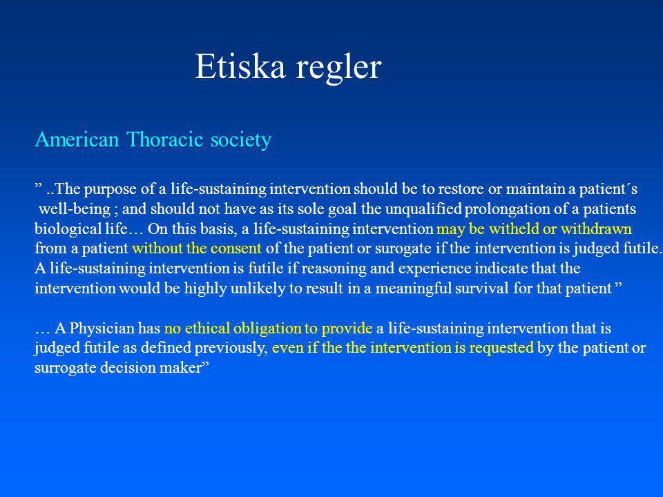 Etiska regler American Thoracic society