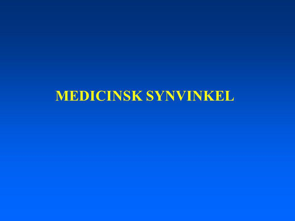 MEDICINSK SYNVINKEL