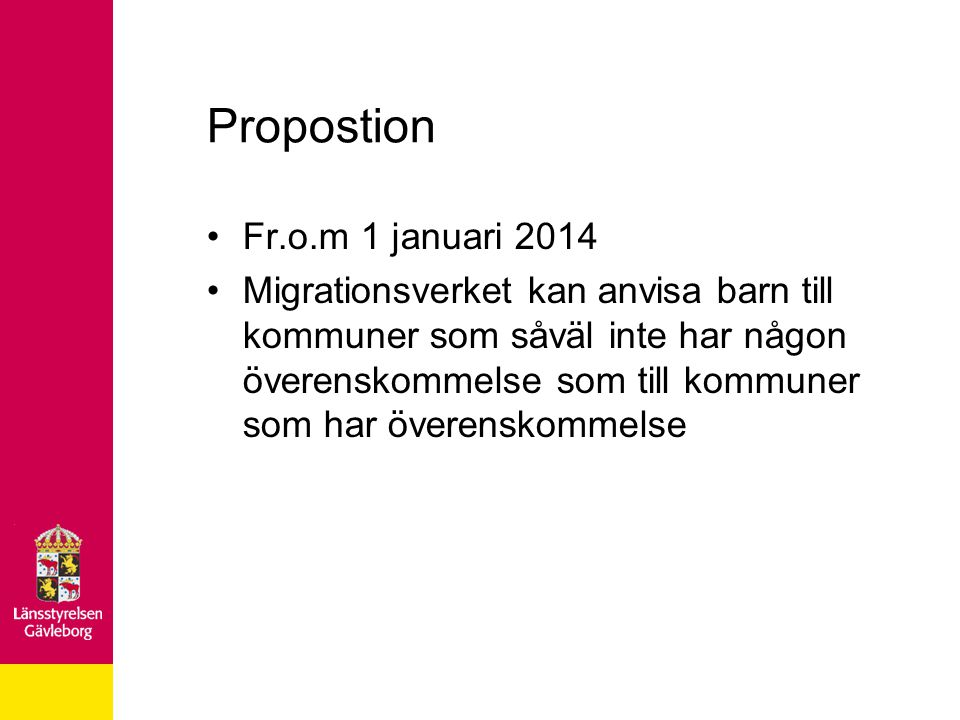 Propostion Fr.o.m 1 januari 2014