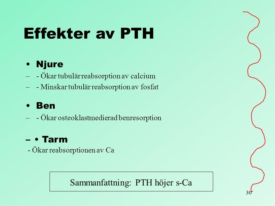 Sammanfattning: PTH höjer s-Ca