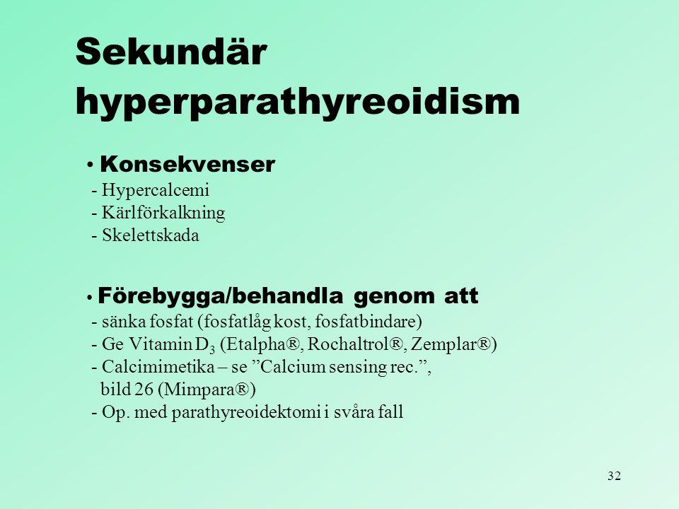 Sekundär hyperparathyreoidism