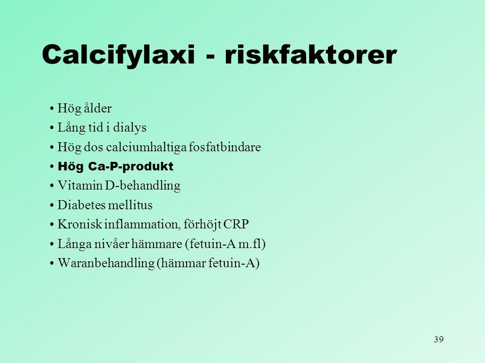 Calcifylaxi - riskfaktorer