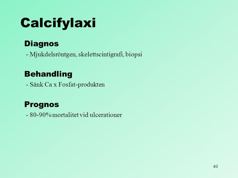 Calcifylaxi Diagnos Behandling Prognos