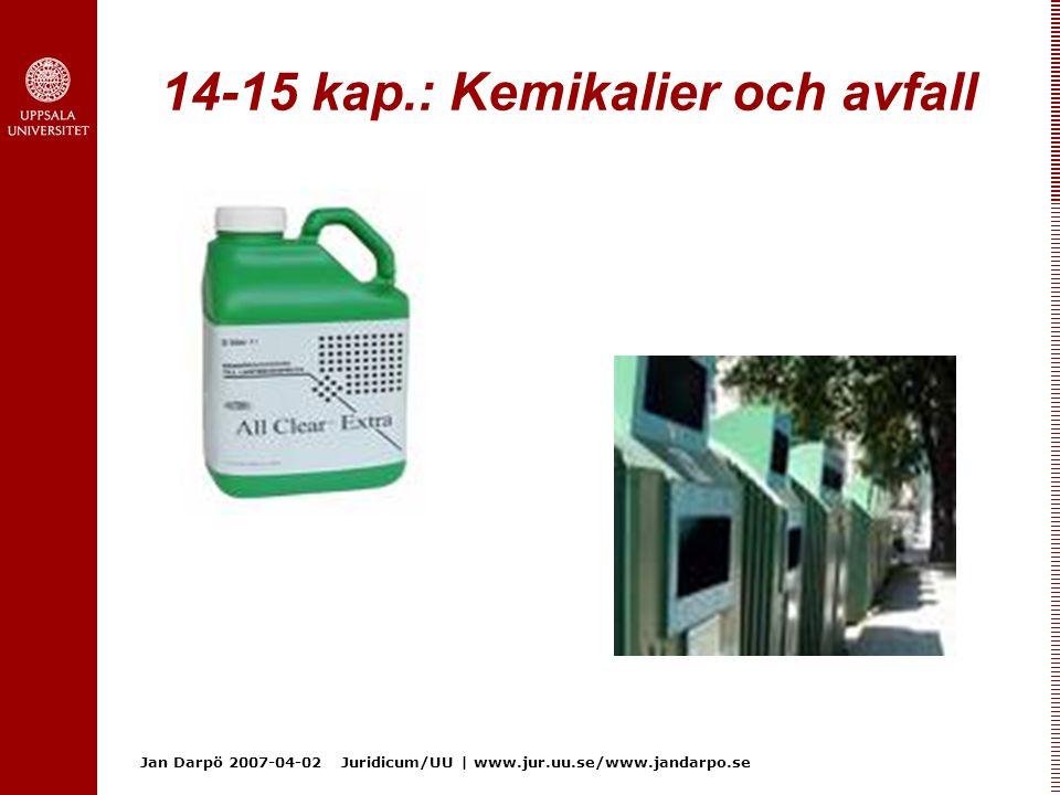 14-15 kap.: Kemikalier och avfall