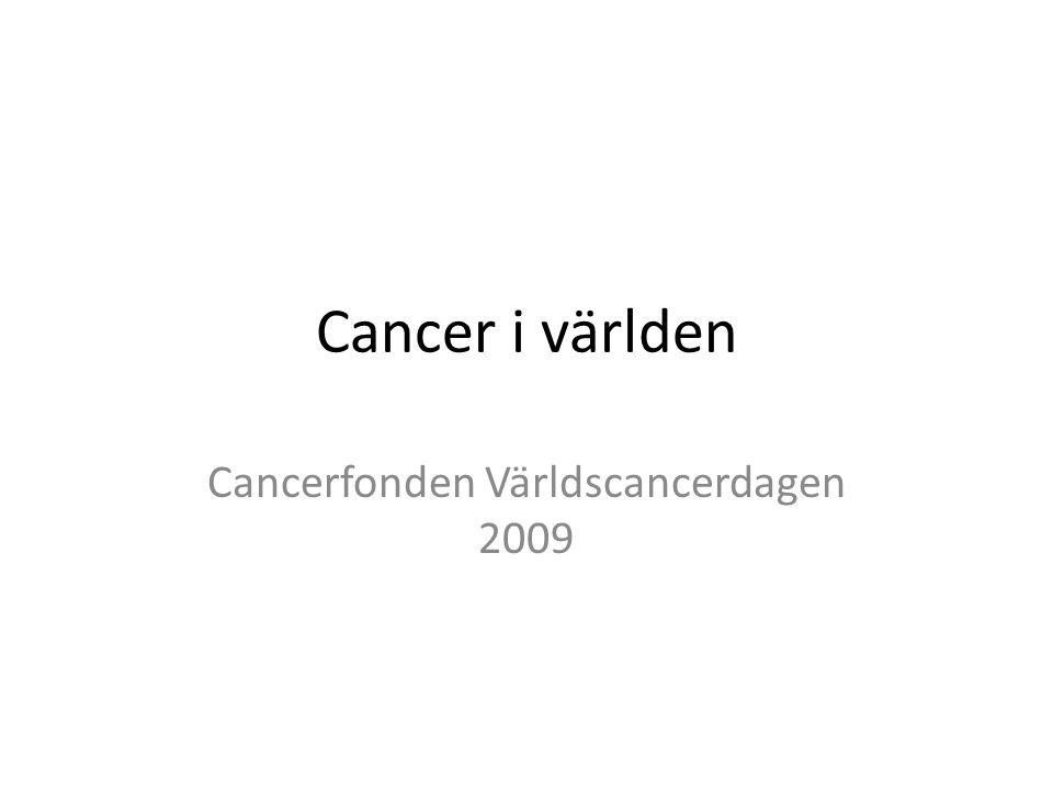 Cancerfonden Världscancerdagen 2009