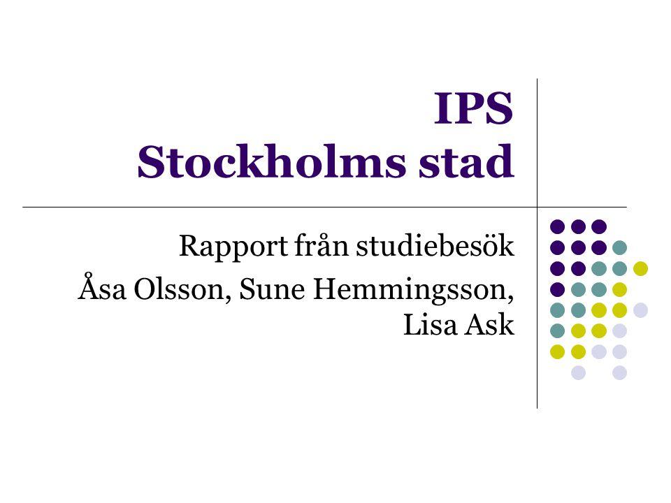 Rapport från studiebesök Åsa Olsson, Sune Hemmingsson, Lisa Ask