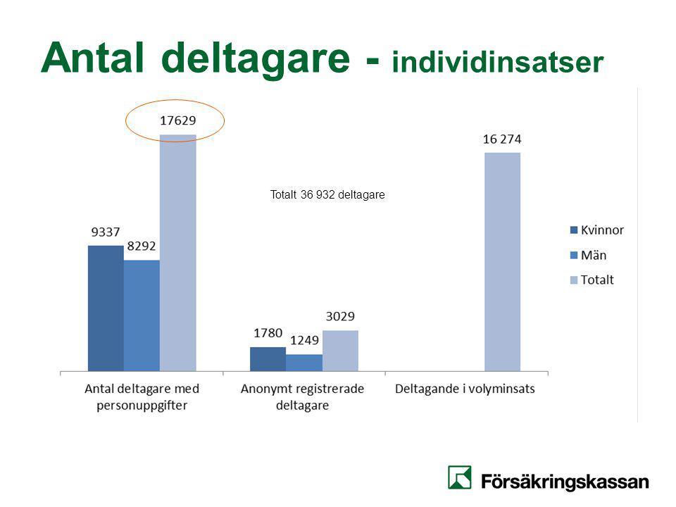Antal deltagare - individinsatser