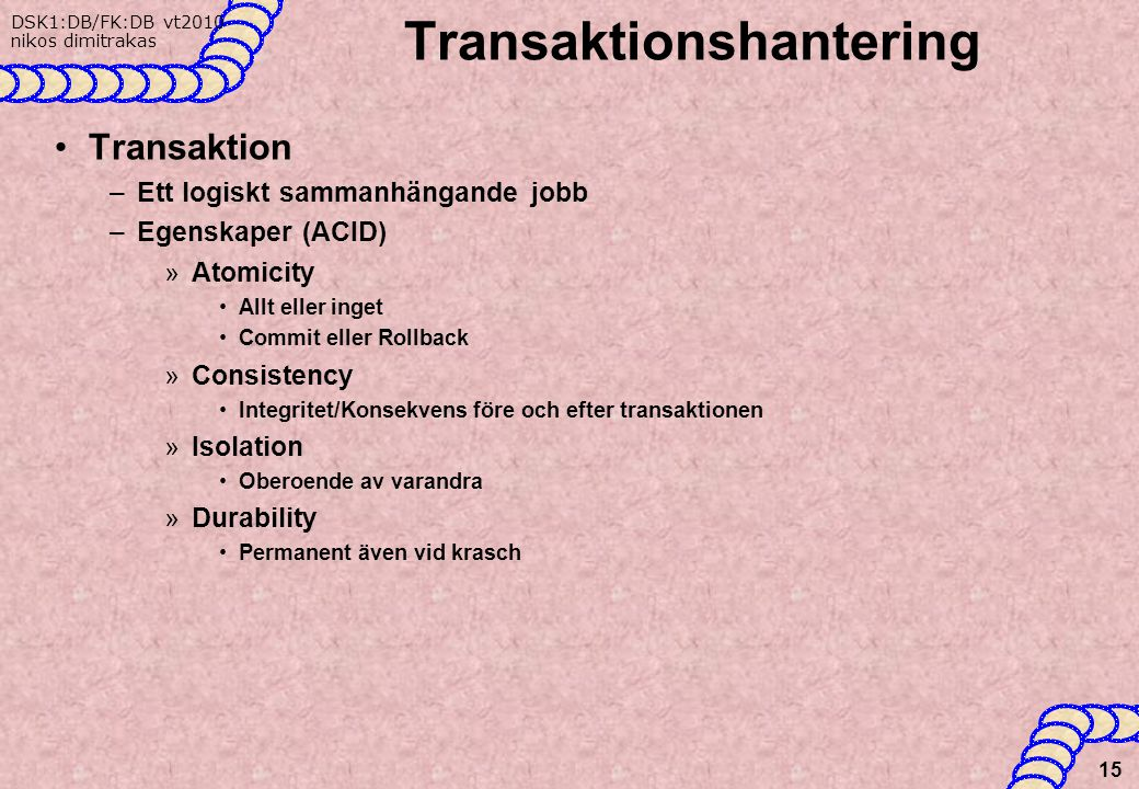 Transaktionshantering