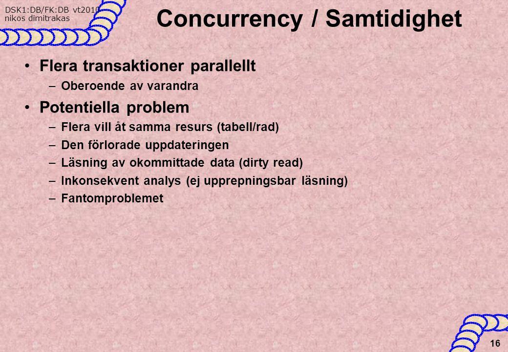 Concurrency / Samtidighet