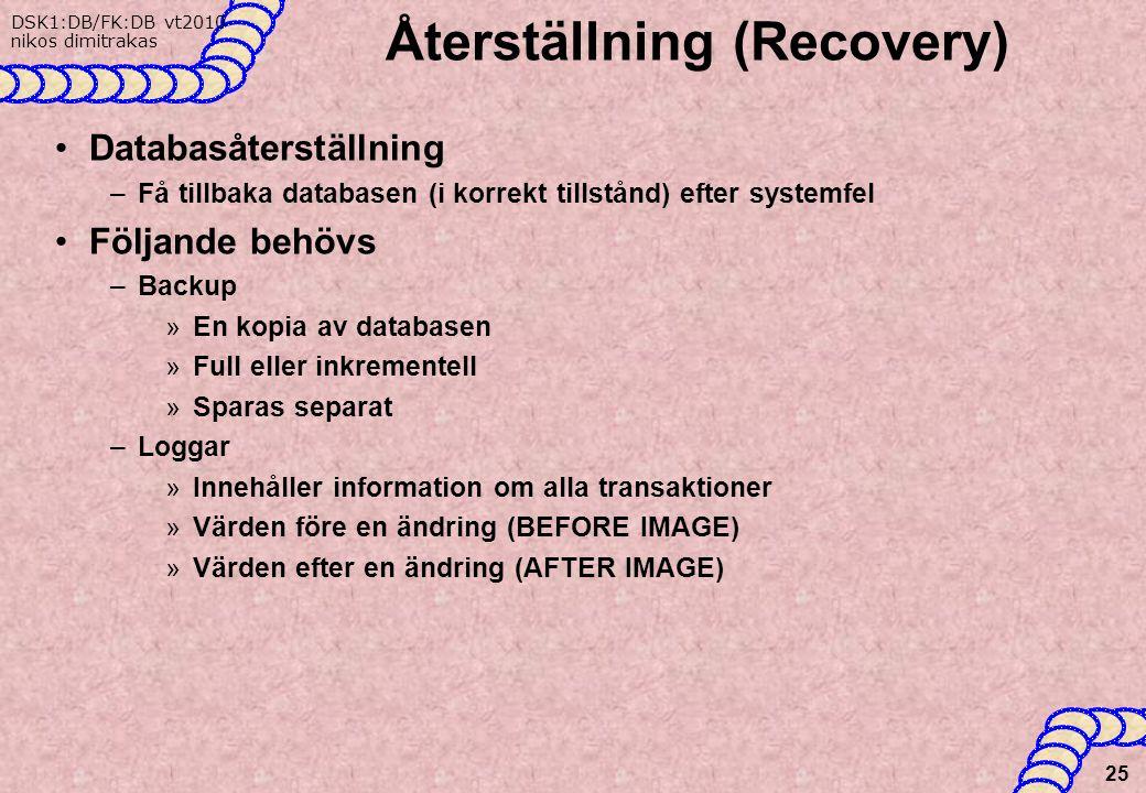 Återställning (Recovery)