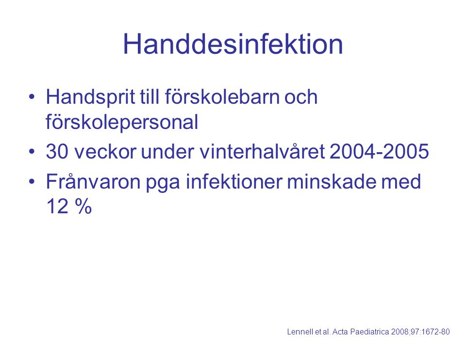 Handdesinfektion Handsprit till förskolebarn och förskolepersonal