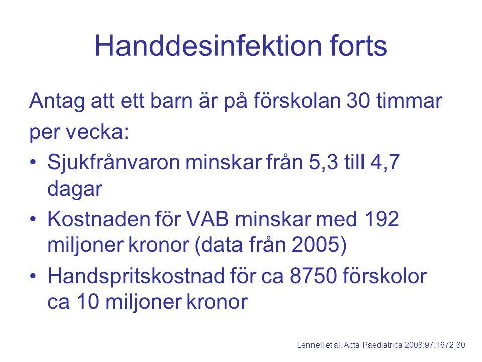 Handdesinfektion forts