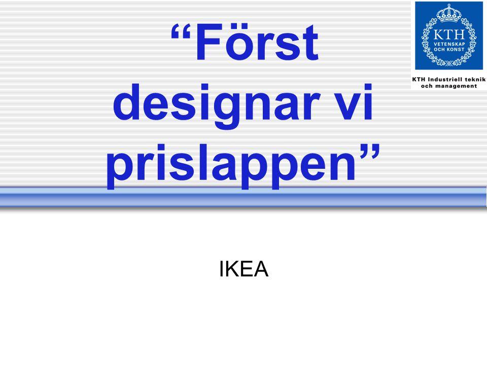 Först designar vi prislappen