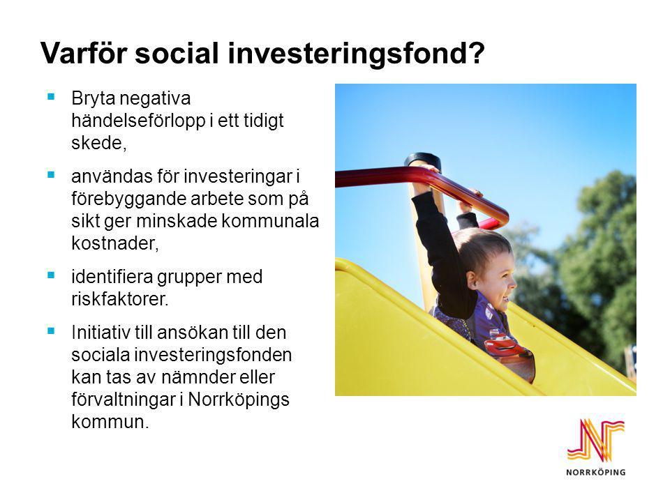 Varför social investeringsfond