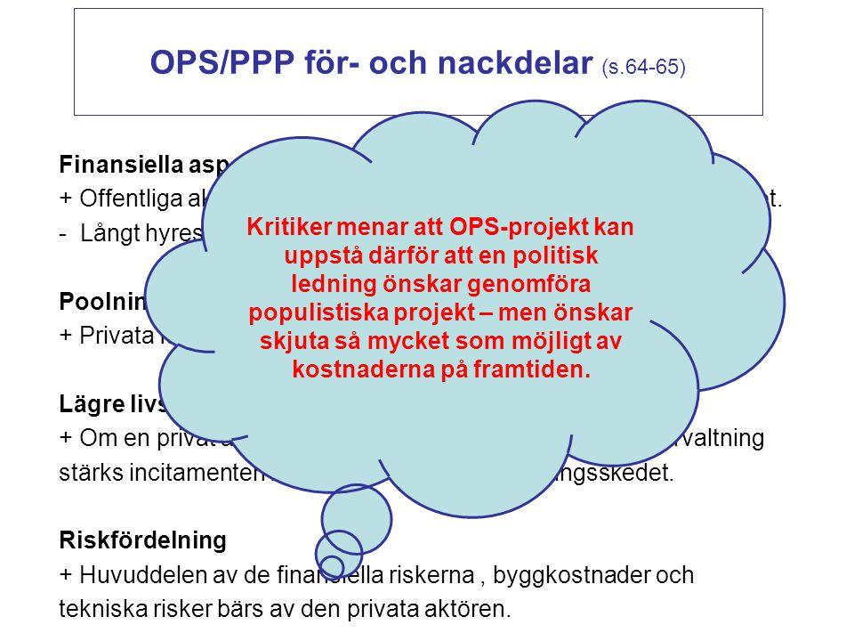 OPS/PPP för- och nackdelar (s.64-65)