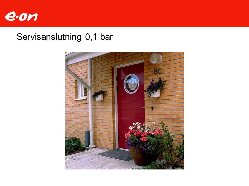 Servisanslutning 0,1 bar