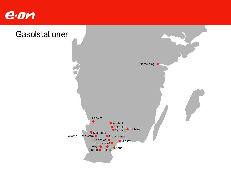 Gasolstationer · · · · · · · · · · · · · · · · Norrköping Laholm