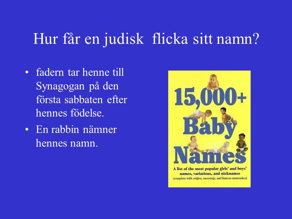 Hur får en judisk flicka sitt namn
