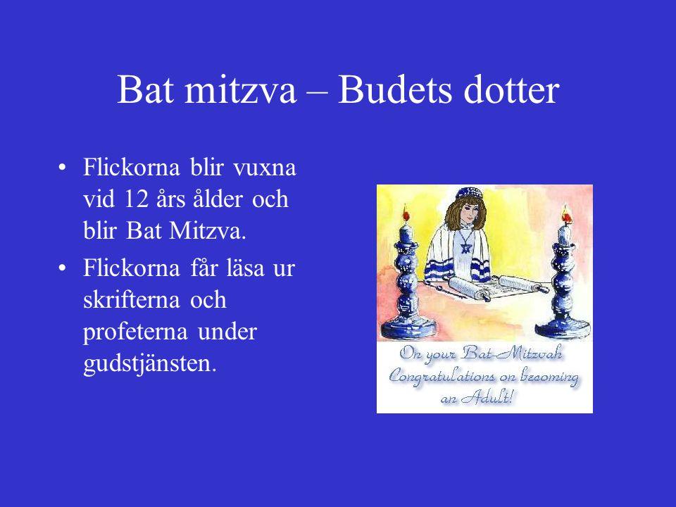 Bat mitzva – Budets dotter