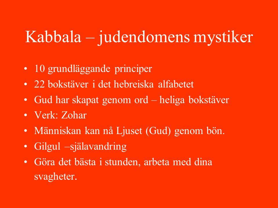 Kabbala – judendomens mystiker