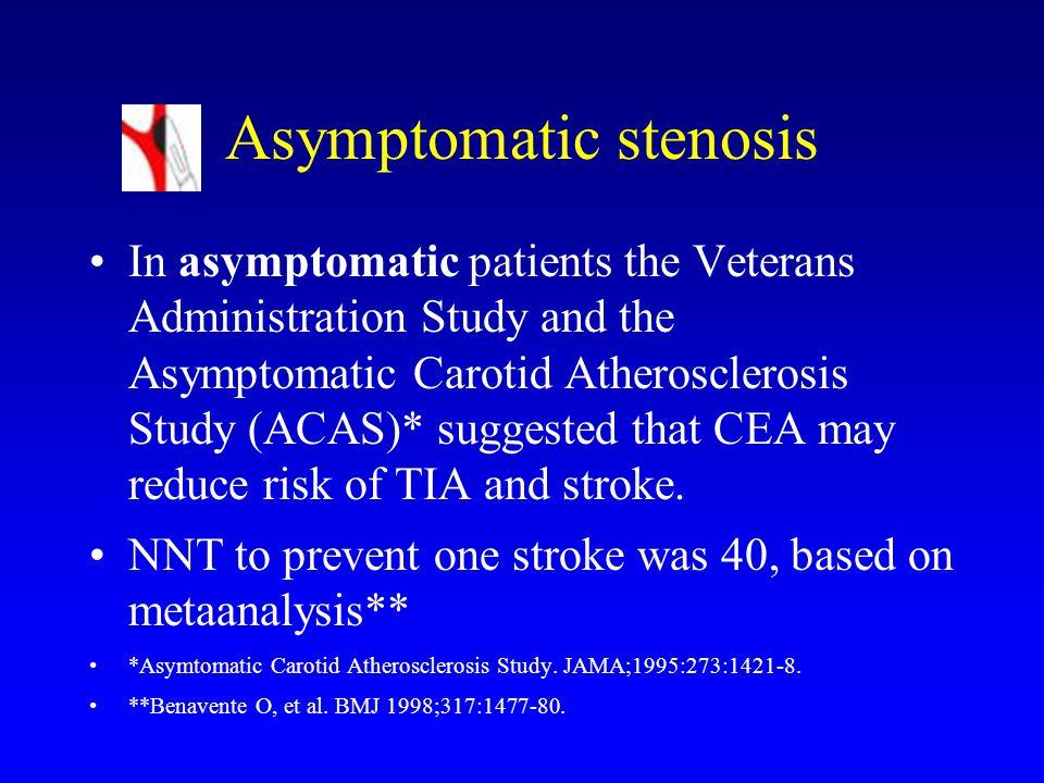 Asymptomatic stenosis