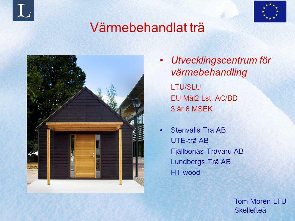 Värmebehandlat trä Utvecklingscentrum för värmebehandling LTU/SLU