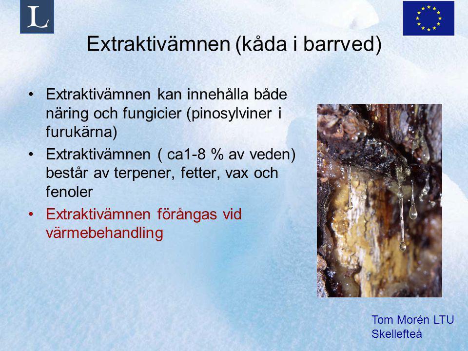 Extraktivämnen (kåda i barrved)