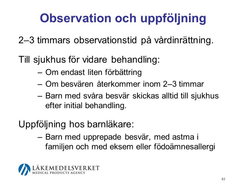 Observation och uppföljning