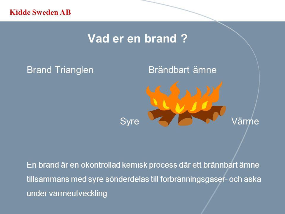 Vad er en brand Brand Trianglen Brändbart ämne Syre Värme