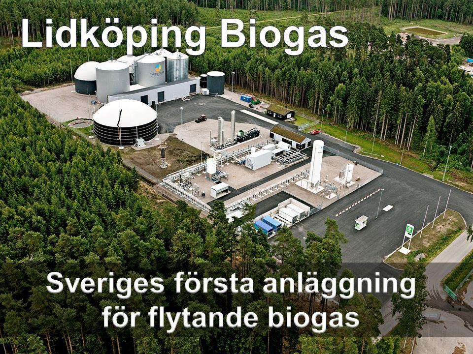 Sveriges första anläggning för flytande biogas