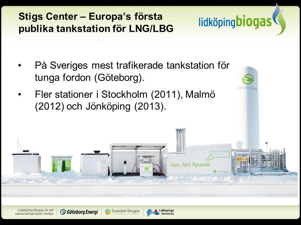 Stigs Center – Europa's första publika tankstation för LNG/LBG