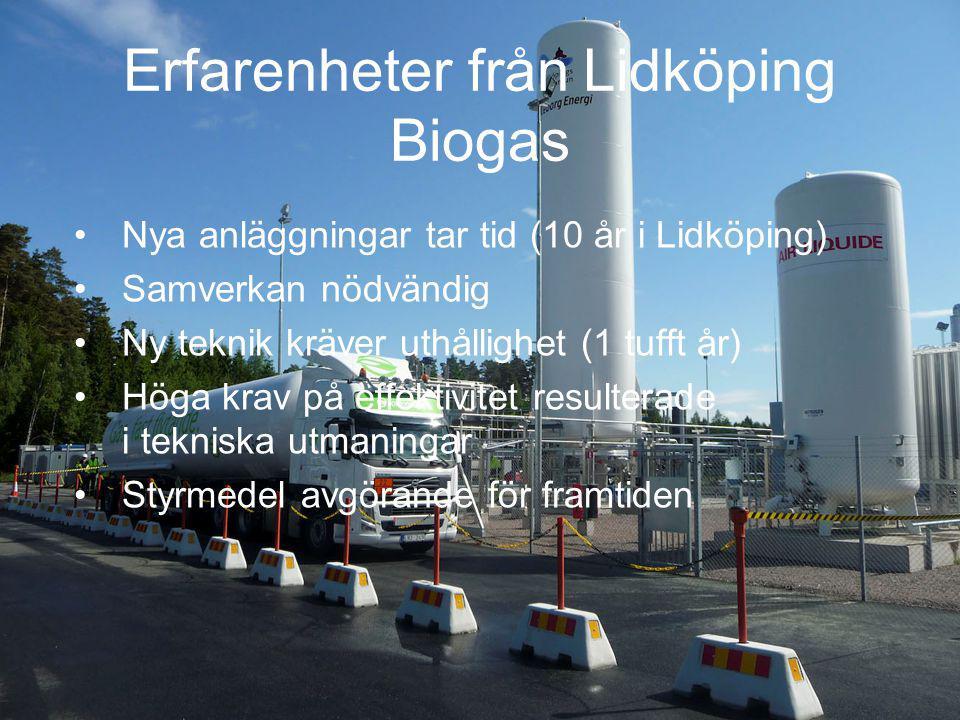 Erfarenheter från Lidköping Biogas