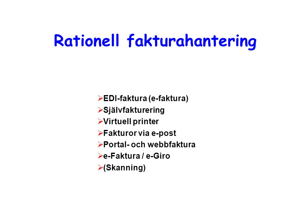 Rationell fakturahantering