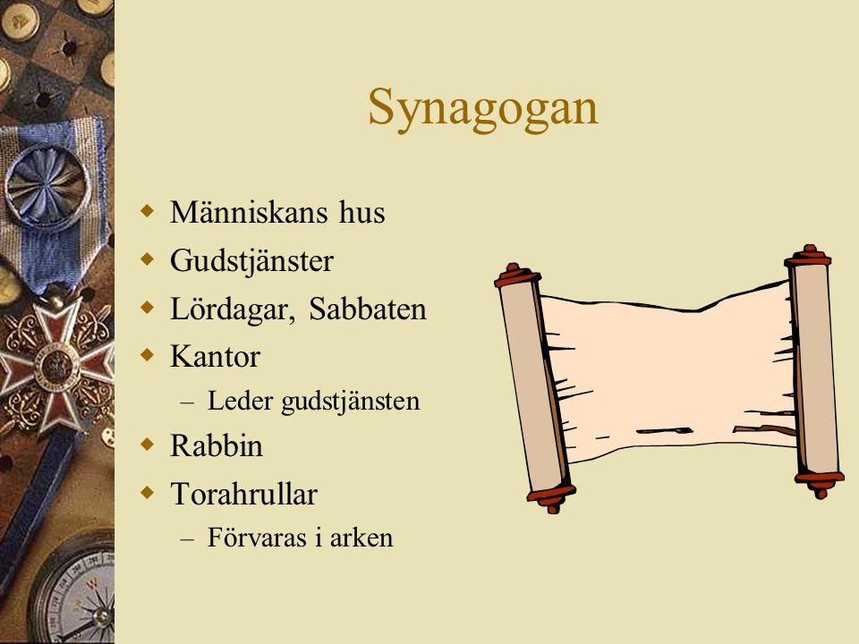 Synagogan Människans hus Gudstjänster Lördagar, Sabbaten Kantor Rabbin