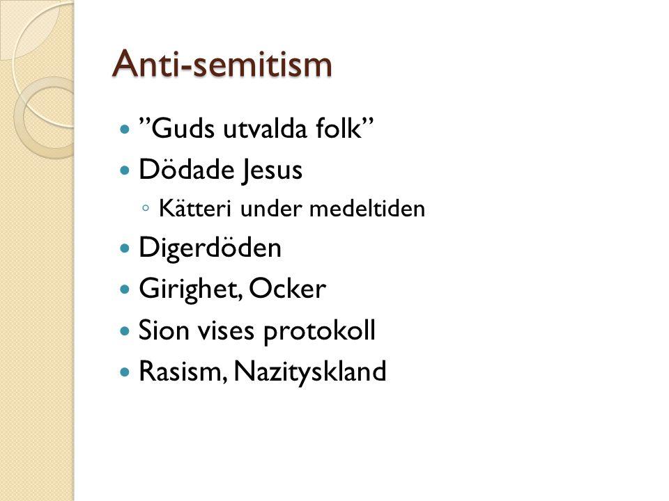 Anti-semitism Guds utvalda folk Dödade Jesus Digerdöden