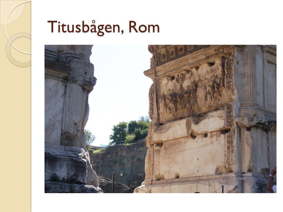 Titusbågen, Rom Triumfbåge med menoran i som en segersymbol efter det andra templets fall.