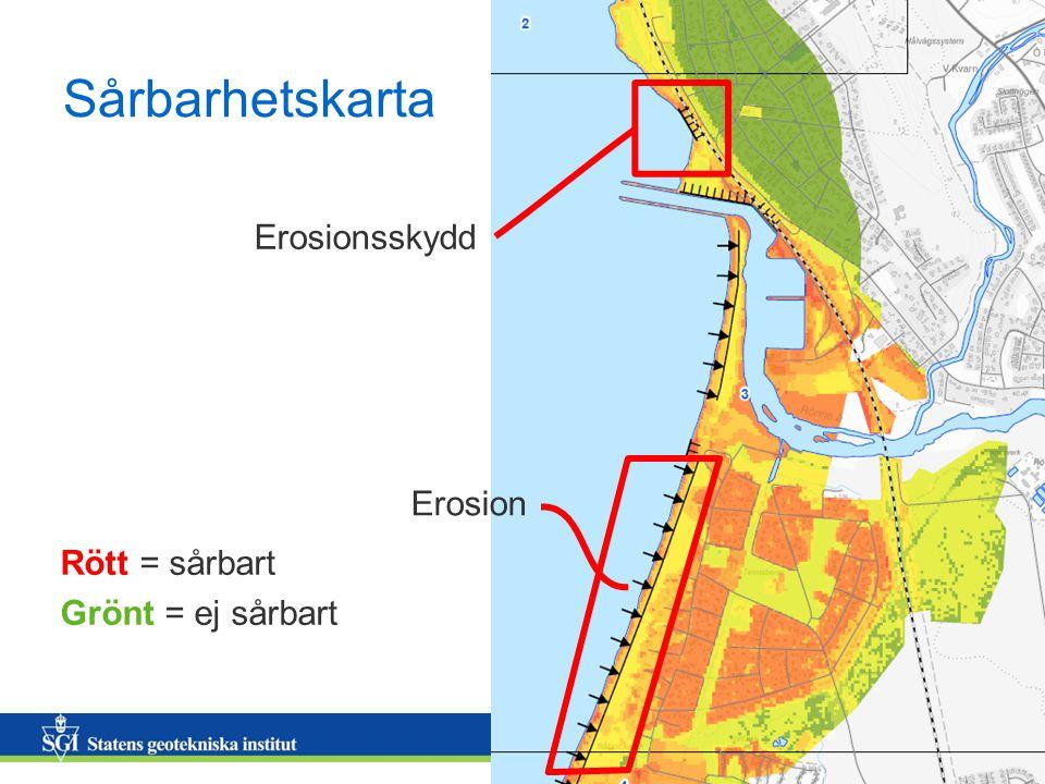 Sårbarhetskarta Erosionsskydd Erosion