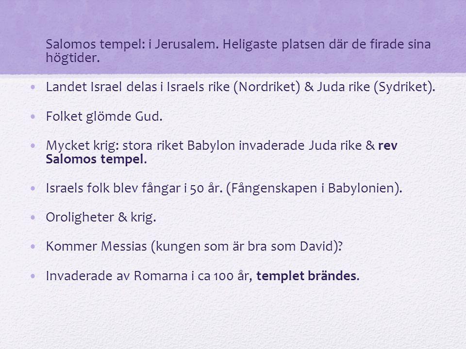Salomos tempel: i Jerusalem