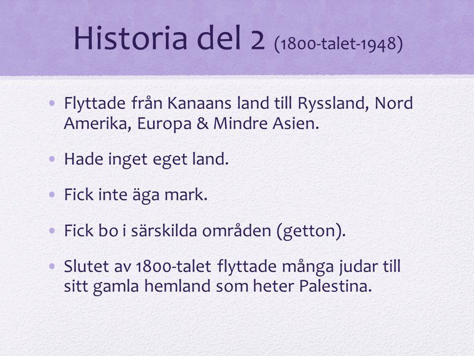 Historia del 2 (1800-talet-1948)