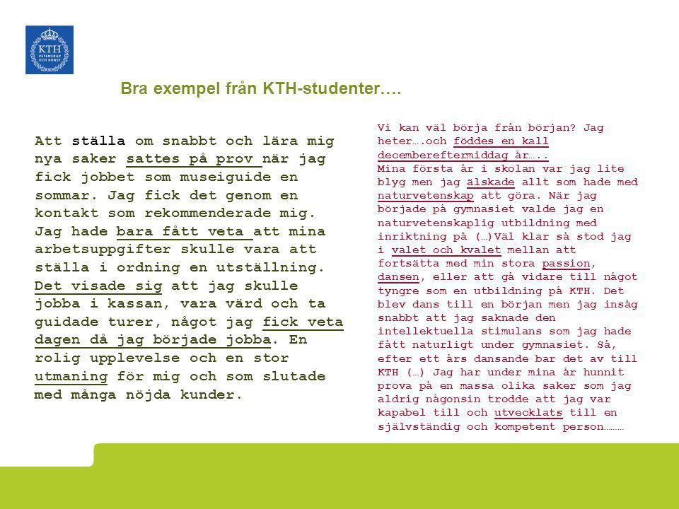 Bra exempel från KTH-studenter….