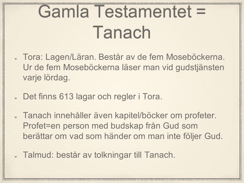 Gamla Testamentet = Tanach