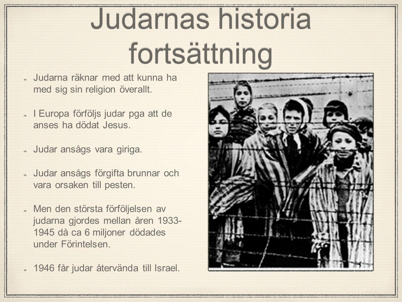Judarnas historia fortsättning