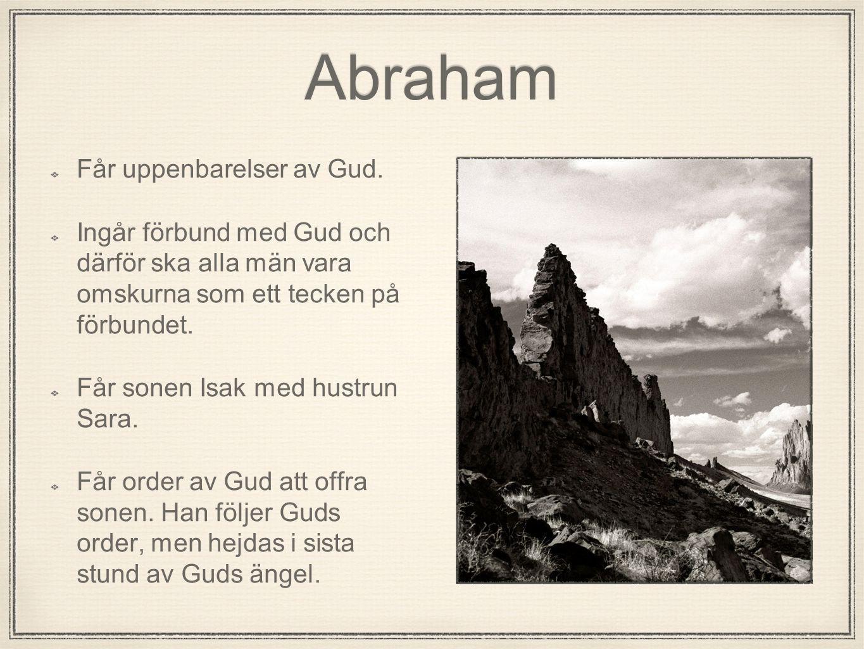 Abraham Får uppenbarelser av Gud.