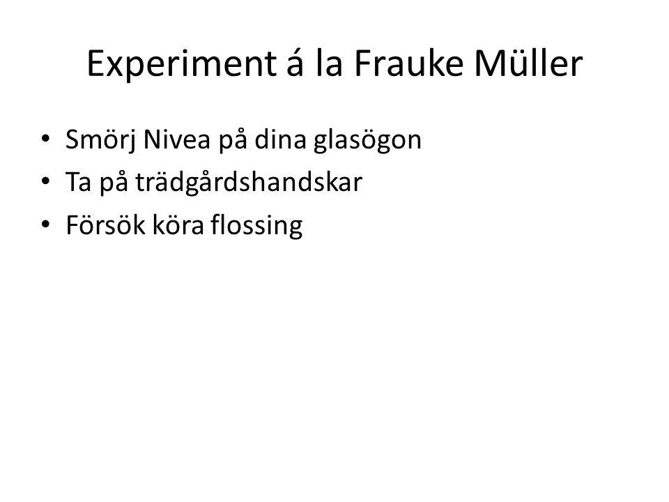 Experiment á la Frauke Müller